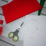 Madár formájú filc kokárda készítése